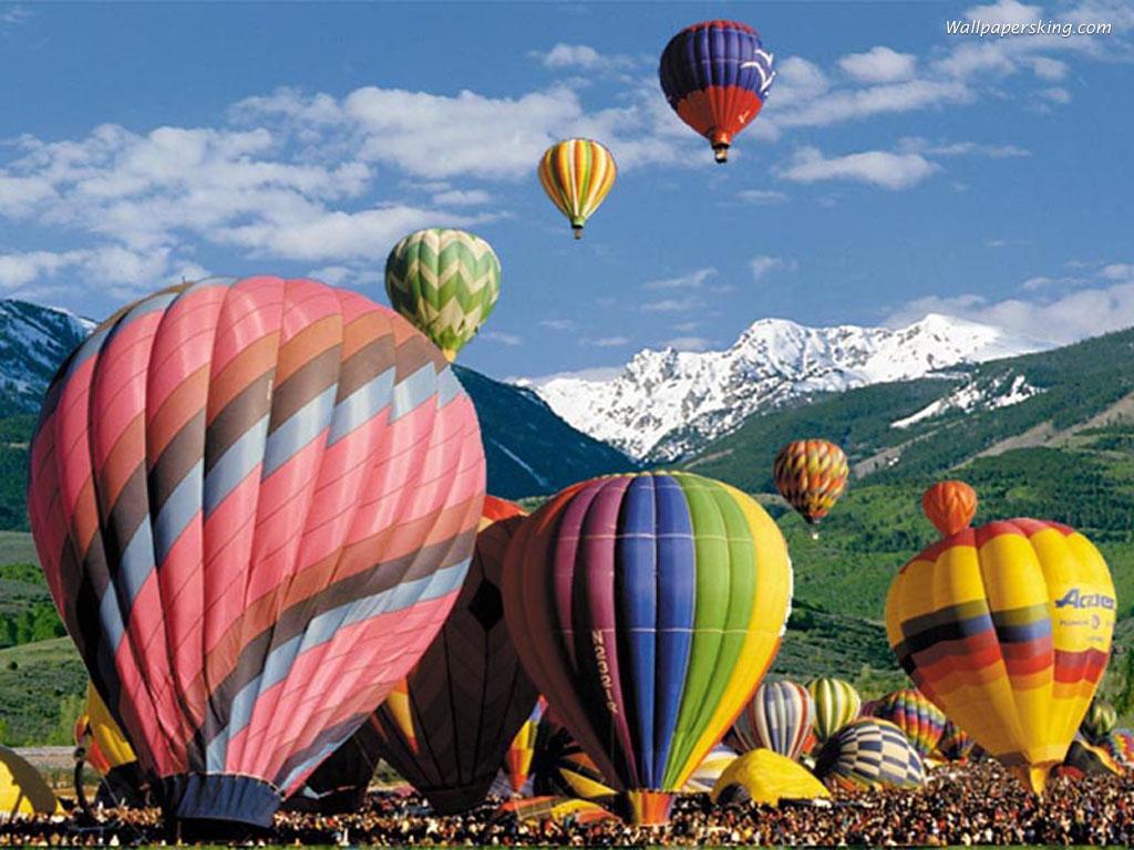 漂漂可爱的热气球