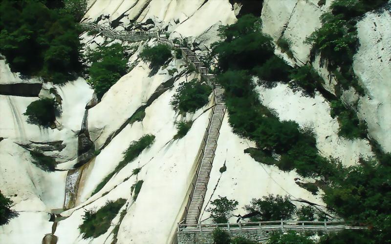 手绘华山风景图片